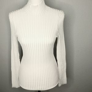 Urban Outfitter Mock Turtle Neck Slim White Top